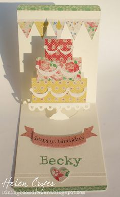 Helen Cryer: The Dining Room Drawers: Pop 'n Cuts Layered Cake card - 7/17/13