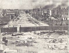 Columbia, SC, Main Street after Sherman's March (1865)