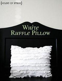 DIY White Ruffle Pillow Tutorial