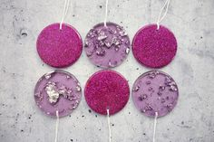 Ready to Ship: Assorted Resin Decorations, Christmas Decorations, Resin Discs, Hanging Decorations, Home Decor