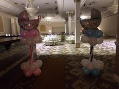 2 baby shower balloon decoration columns we did at a recent event. Baby Shower Balloon Decorations, Baby Shower Balloons, 2nd Baby Showers, Balloon Arrangements, Balloon Delivery, Recent Events, Columns, Party, Parties