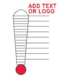 Fundraising thermometer template to use with the girls for Money thermometer template