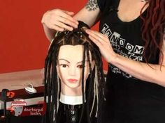 How to Get a Full Synthetic Dreadlock Look With A Ponytail Piece and Double Ended Dreadlocks