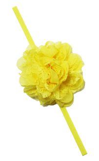 Chiffon and Tulle Fabric Flower with Elastic Headband Skinny Headbands, Elastic Headbands, Tulle Fabric, Fabric Flowers, Stylish Dresses, Hair Bows, Chiffon, Princess, Ribbon Hair Ties