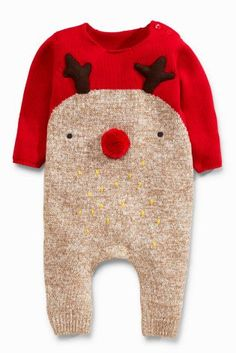 Acheter Grenouillère rouge motif renne (0 mois - 2 ans) disponible en ligne dès aujourd'hui sur Next : France