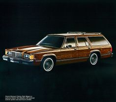 1983 Mercury Grand Marquis Colony Park Station Wagon.  Mine was Silver with Red Velvet interior.  It was the LX.