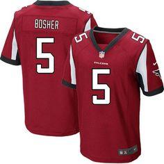 Nike NFL Atlanta Falcons #5 Matt Bosher Red Elite Team Color Jersey Sale