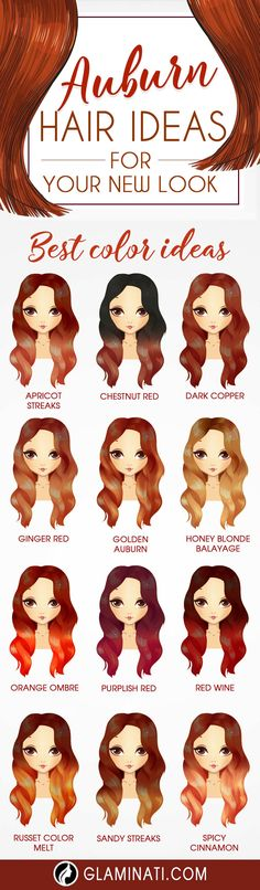 30 chic and stylish color options and styles for gorgeous auburn hair - Hair Color 02 Auburn Balayage, Hair Color Auburn, Red Hair Color, Color Red, Makeup Tips For Redheads, Super Hair, Stylish Hair, Hair Highlights, Highlights For Auburn Hair