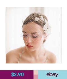714e81c24773e  2.9 - Wedding Bridal Headwear Birdcage Face Veil Fascinator White Flower  Strap  ebay  Fashion