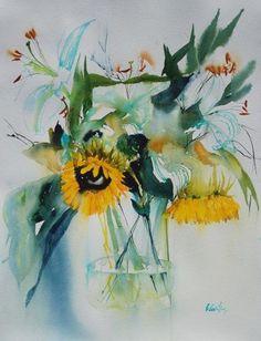 Olivia Quintin Blume Sonnenblume Vase