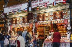 Great Market Hall Budapest The Great Market Hall in Budapest is something you cannot miss, it is the center of local life in a city, the markets. Hungarian Cuisine is full of ingredients and spices. Hungarian Cuisine, Budapest, Wine
