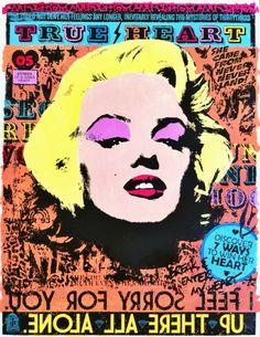 #popart retro graffiti screenprint #illustration #streetart marilyn monroe