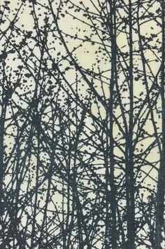 Vera Neumann Tree Print Handmade Wall Art