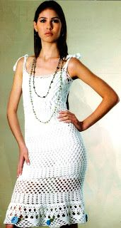 Arquivo de Diversas Roupas: Vestido branco de croche