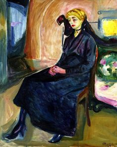 Edvard Munch - Seated Young Woman, 1916