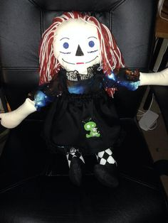 Custom created Raggedy-Anne/Andy style doll - Large Size