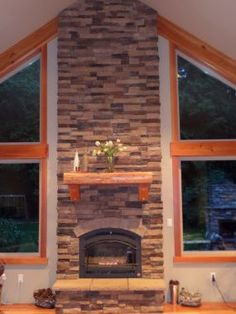Both fireplaces were designed and custom built by Randy Seiber