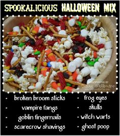 Spookalicious Halloween Mix ~ It's Frightfully Delicious!   Perfect mix for parties, gatherings and treat bags.