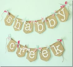 Easy cute wall hanging.  Could put birthday girl's (or boy's) name!