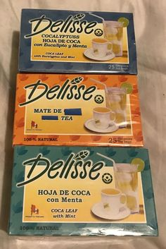 3 Pack Delisse Mix Herbal Tea -Mint,Eucalyptus & Mate - 100% Natural from Peru #Delisse