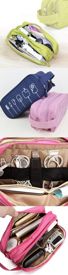 US$8.89  Women Graffiti Toiletry Bag Cosmetic Bag Travel Must-have High-end Digital Usb Cable Storage Bag