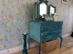 Hand painted ornate French style dresser In Annie Sloan Florence