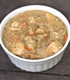 Clean Eating Slow Cooker Chicken and Dumplings (From The Gracious Pantry via Slow Cooker from Scratch.)
