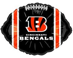 Cincinnati Bengals Football Balloons 10-Pack
