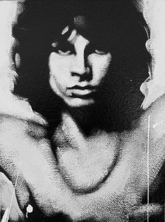 Jim Morrison Pop Art Canvas Artwork By Famous Artist Leah Devora Print For Sale Of