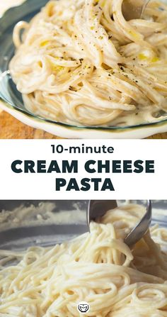 Pasta Side Dishes, Pasta Sides, Food Dishes, Easy Pasta Recipes, Spaghetti Recipes, Easy Dinner Recipes, Angle Hair Pasta Recipes, Cream Cheese Recipes Dinner, Easy Chicken Spaghetti
