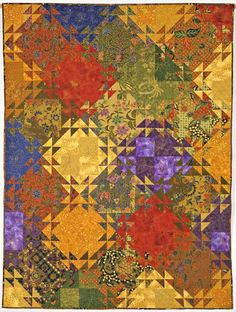 (7) Name: 'Quilting : Shimmering Triangles