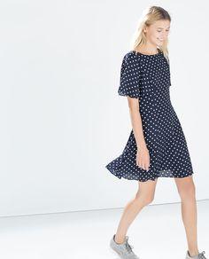 Polka dot dress from Zara.
