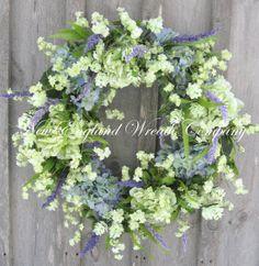Spring Wreath, Easter, Spring Floral, Country French, Designer, Elegant Spring, Garden Wreath on Etsy, $199.00