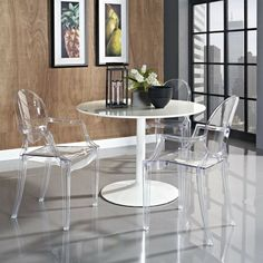 transparent restaurant and Dining chairs