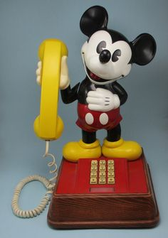Mickey Mouse Phone  1976 by KitschMerchant on Etsy