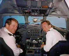 Two pilots take time to smile