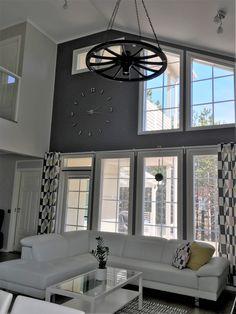 korkea tila, olohuone, living room, vardagsrum