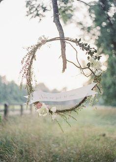 Whimsical wedding wreath