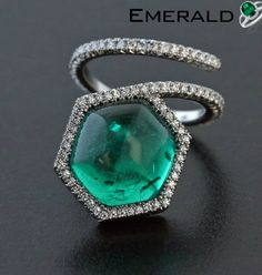 Designer emerald ring