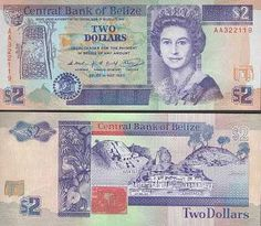 belize 2 dollars Queen Elizabeth II at right. Mayan ruins of Belize on reverse. Money Template, Templates, History Of Philosophy, Money Worksheets, Two Dollars, Legal Tender, Mayan Ruins, Coin Collecting, Belize