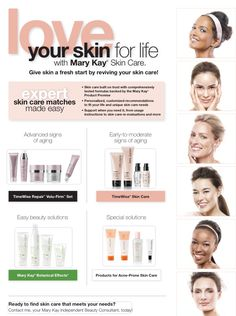 Love your skin for life with Mary Kay skin care. As a Mary Kay beauty consultant I can help you, please let me know what you would like or need. www.marykay.com/KathleenJohnson  www.facebook.com/KathysDaySpa