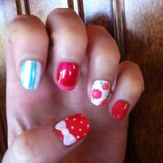 Shellac nail art!! By Sam at Serenity in the Mountains!!