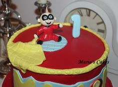 Baby Jack from Incredibles Cake Boy Birthday, Birthday Cakes, Jack And Jack, Fondant Cakes, Cake Ideas, Tutorials, The Incredibles, Candles, Baking