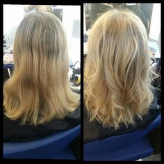 before and after , natural haircolor #liukuvärjäys # doesn't need to constantly dyed
