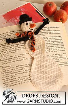 Free Crochet Snowman Bookmark Pattern