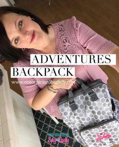 Stepping Stone with hot pink Flamingos #oneorganizedbaglady #thirtyone #thirtyonegifts #adventure #travel #backpacks #diaperbag #diaperbagbackpack