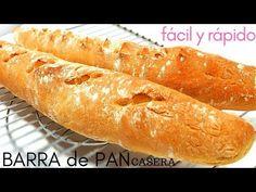 BARRAS de PAN CASERO🥖🥖 (en 90 minutos) 🥖🥖 francés, SIN MASA MADRE - YouTube