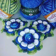 Crochet Potholders, Crochet Granny, Tapetes Diy, Flower Chart, Crochet Summer Tops, Crochet Flowers, Crochet Projects, Projects To Try, Crochet Patterns
