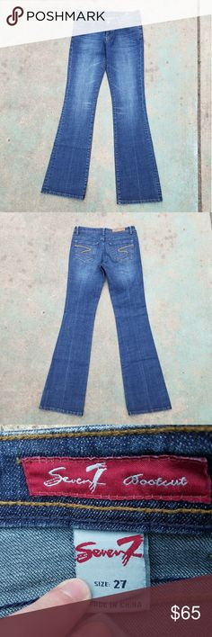 Seven7 Bootcut Jeans Practical pair of jeans for everyday wear. NWOT  Previously tagged 7 for all Mankind. Seven7 Jeans Boot Cut