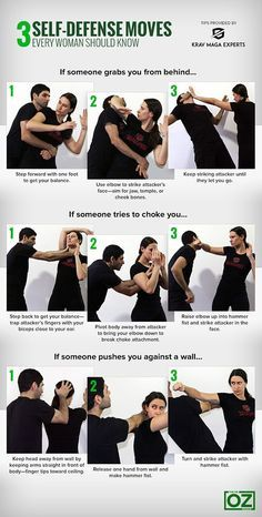 3 Self-Defense Moves Every Woman Should Know...might be handy on a hiking trail